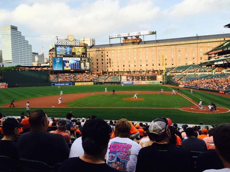 Seating view for Oriole Park at Camden Yards Section 48 Row 20 Seat 5
