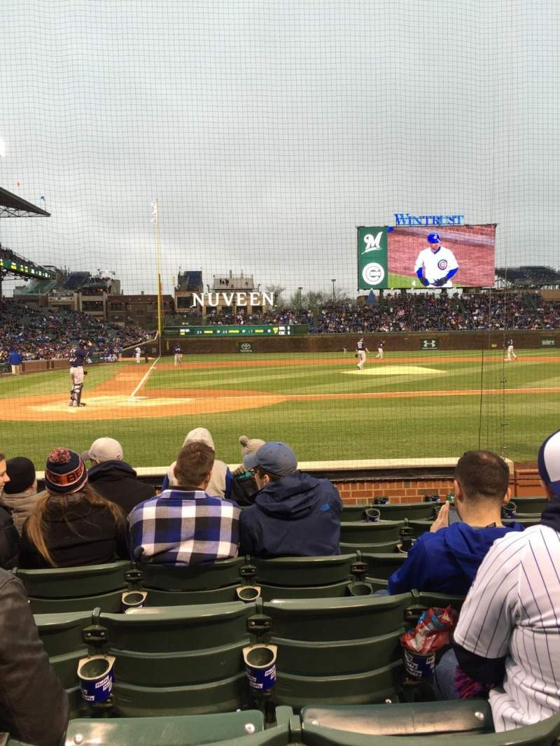 Seating view for Wrigley Field Section 21 Row 10 Seat 8