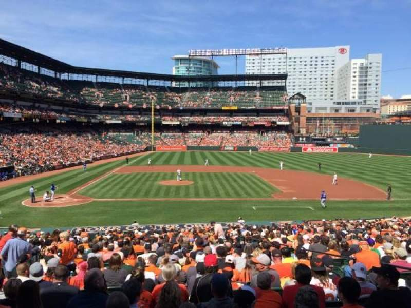Seating view for Oriole Park at Camden Yards Section 23 Row 1 Seat 13