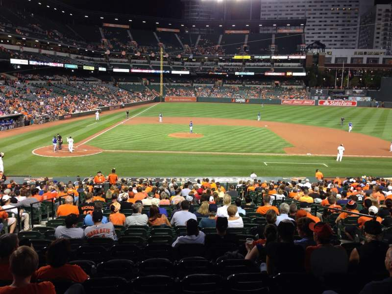 Seating view for Oriole Park at Camden Yards Section 23 Row 1 Seat 14