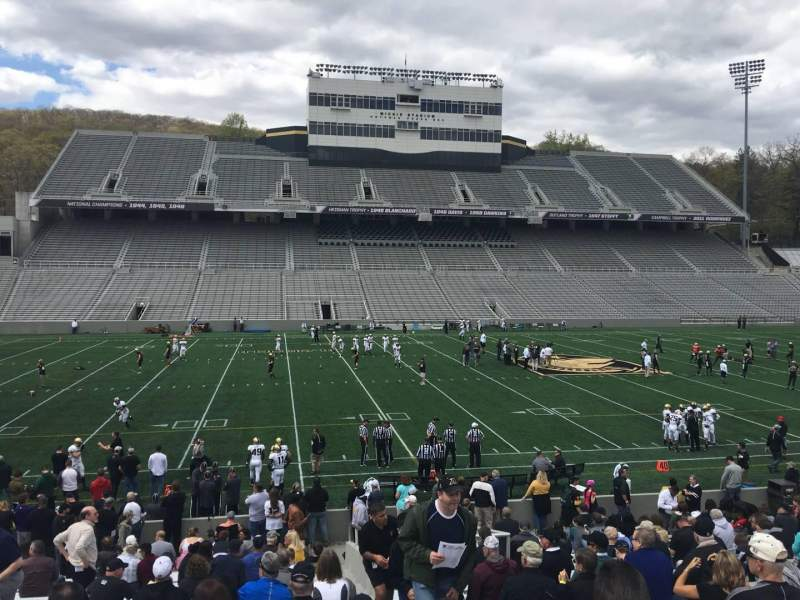 Seating view for Michie Stadium Section 30 Row W Seat 17