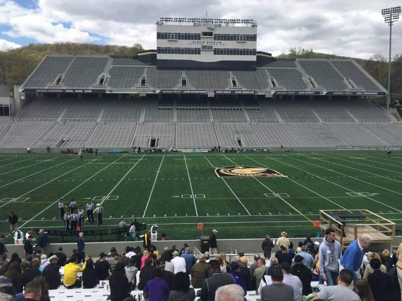 Seating view for Michie Stadium Section 29 Row X Seat 22