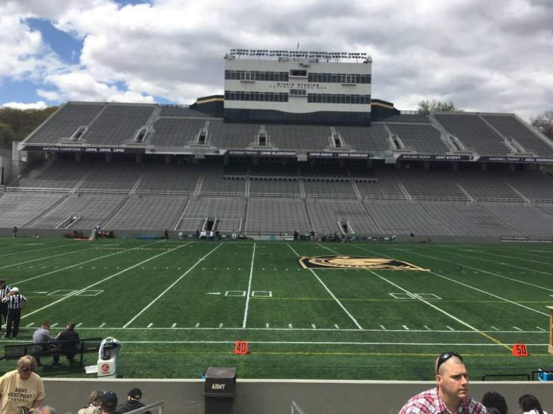 Seating view for Michie Stadium Section 29 Row K Seat 17