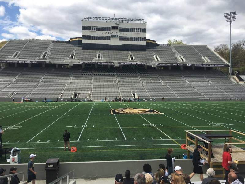 Seating view for Michie Stadium Section 27 Row M Seat 14
