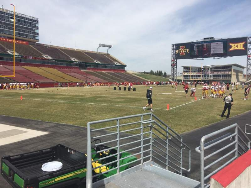 Seating view for Jack Trice Stadium Section 24 Row 2 Seat 6