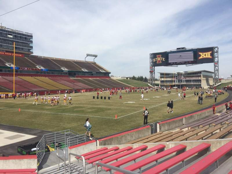 Seating view for Jack Trice Stadium Section 24 Row 11 Seat 17