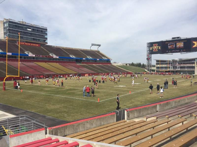 Seating view for Jack Trice Stadium Section 25 Row 11 Seat 4