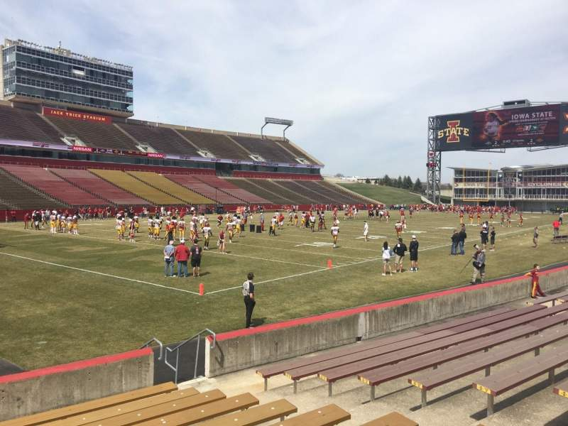Seating view for Jack Trice Stadium Section 26 Row 11 Seat 4