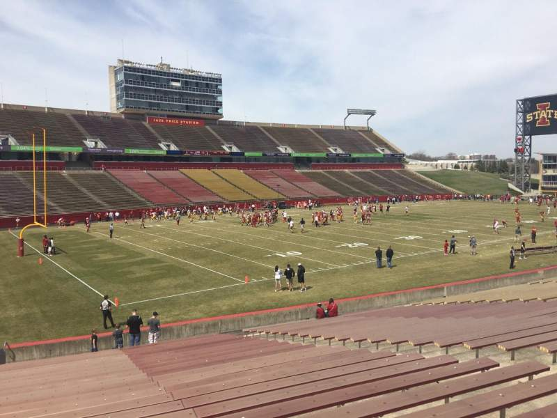 Seating view for Jack Trice Stadium Section 27 Row 27 Seat 7