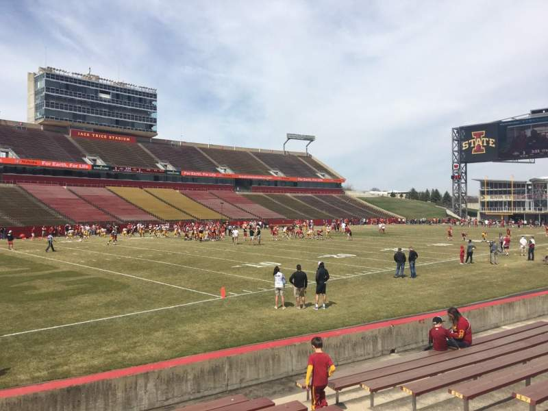 Seating view for Jack Trice Stadium Section 27 Row 11 Seat 11