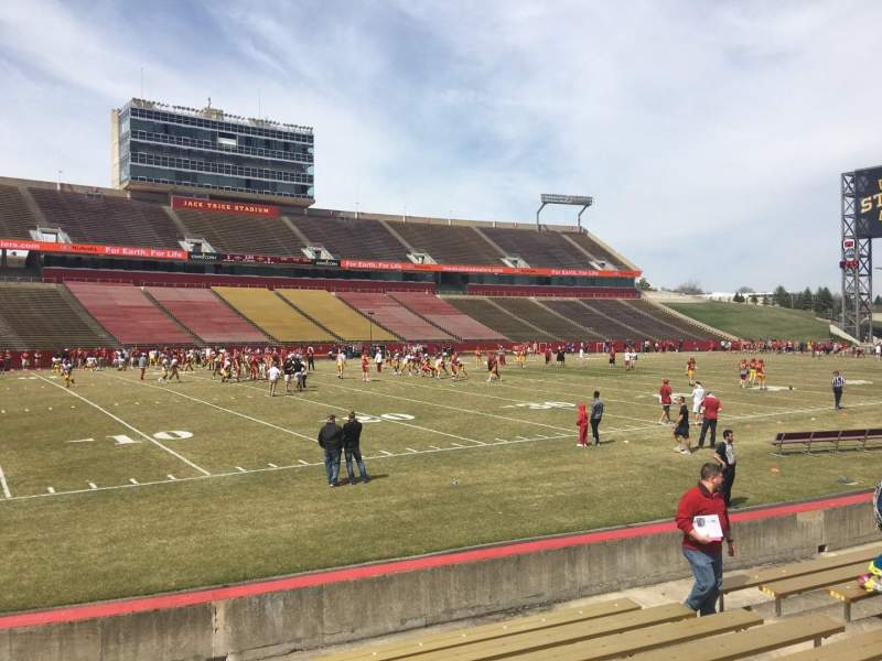 Seating view for Jack Trice Stadium Section 29 Row 11 Seat 7