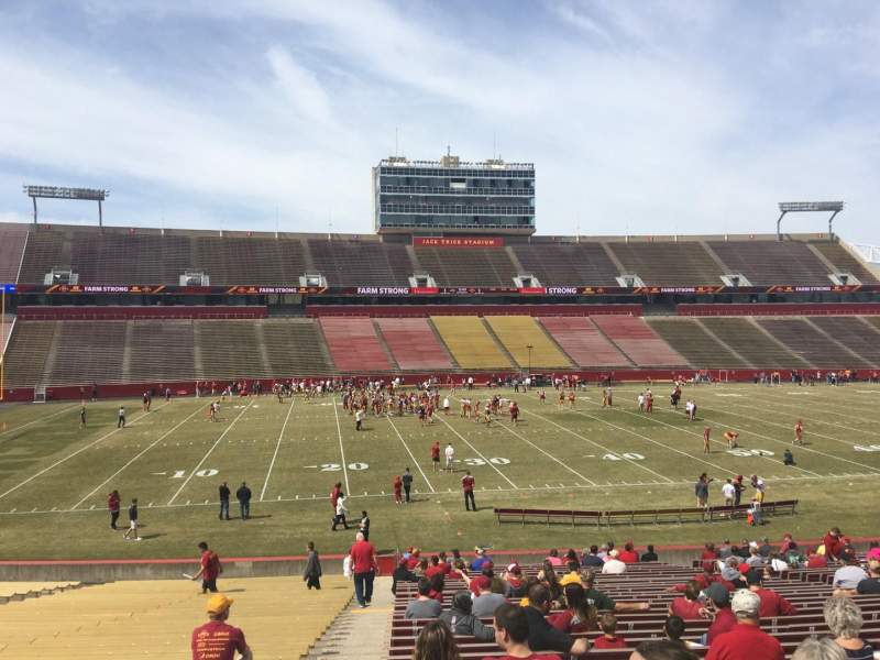 Seating view for Jack Trice Stadium Section 31 Row 34 Seat 1