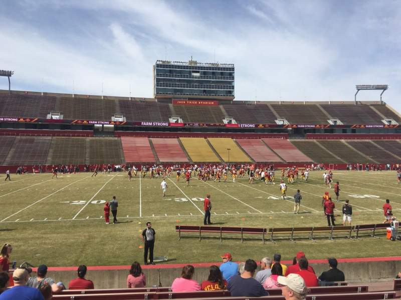 Seating view for Jack Trice Stadium Section 31 Row 14 Seat 11