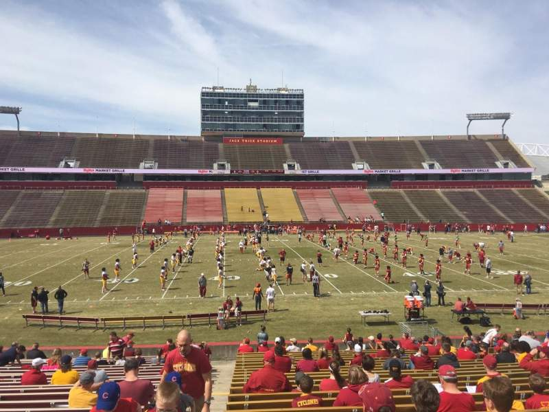 Seating view for Jack Trice Stadium Section 34 Row 27 Seat 1