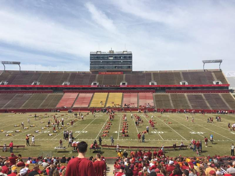 Seating view for Jack Trice Stadium Section 35 Row 34 Seat 1