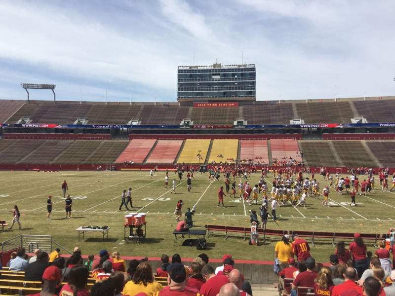 Seating view for Jack Trice Stadium Section 34 Row 16 Seat 19