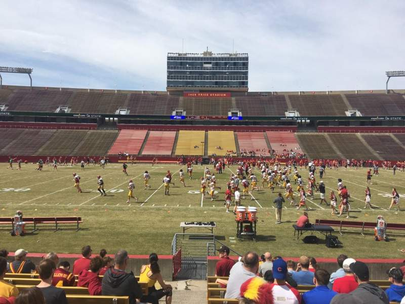 Seating view for Jack Trice Stadium Section 34 Row 14 Seat 1