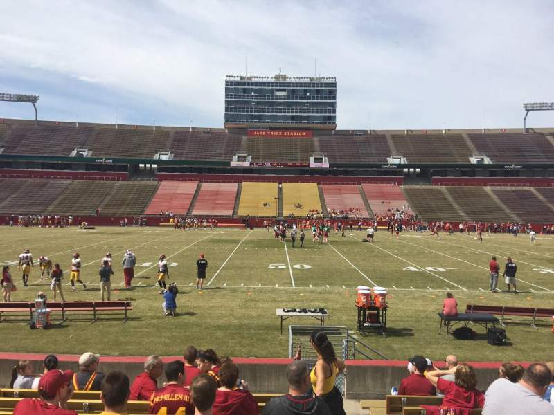 Seating view for Jack Trice Stadium Section 33 Row 13 Seat 19
