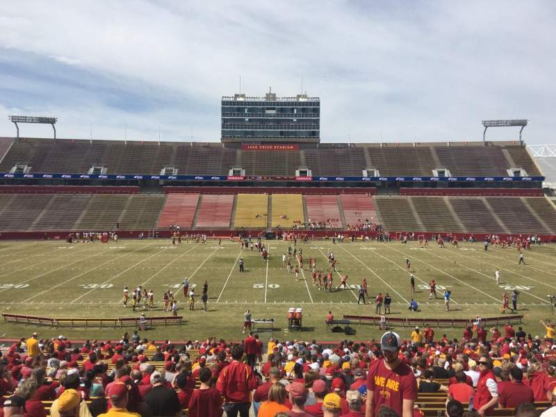 Seating view for Jack Trice Stadium Section 34 Row 37 Seat 1