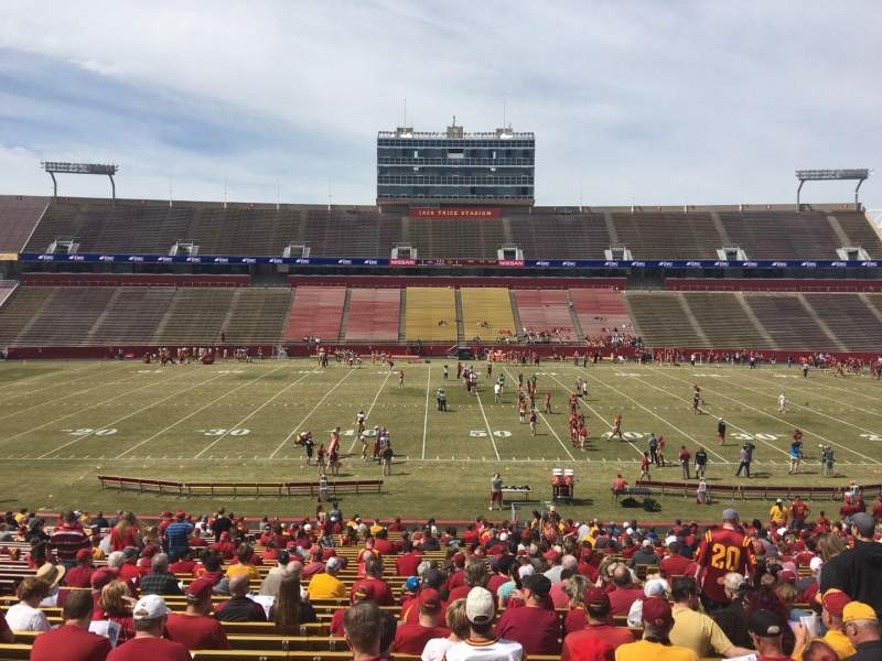 Seating view for Jack Trice Stadium Section 33 Row 37 Seat 17