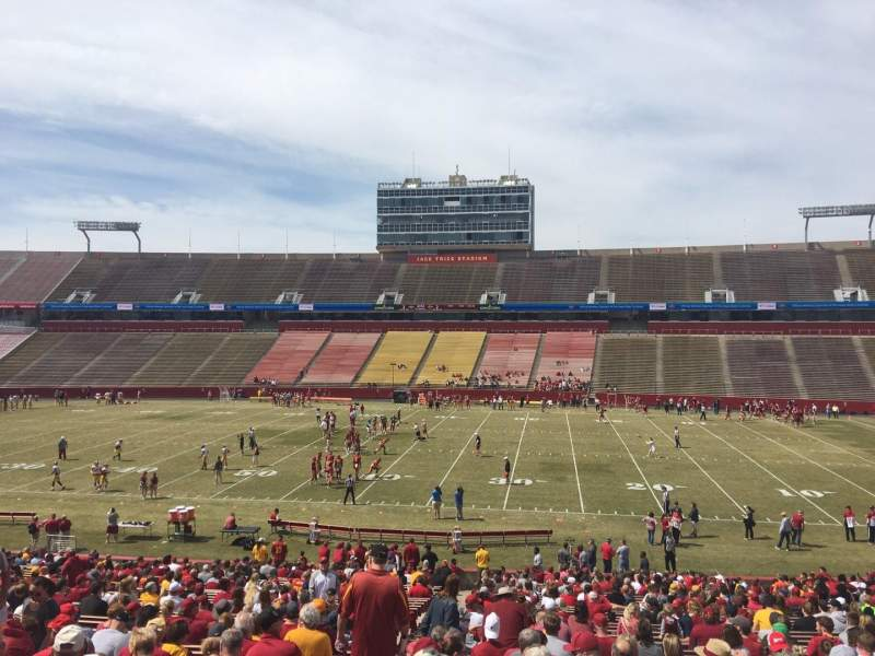 Seating view for Jack Trice Stadium Section 36 Row 37 Seat 2