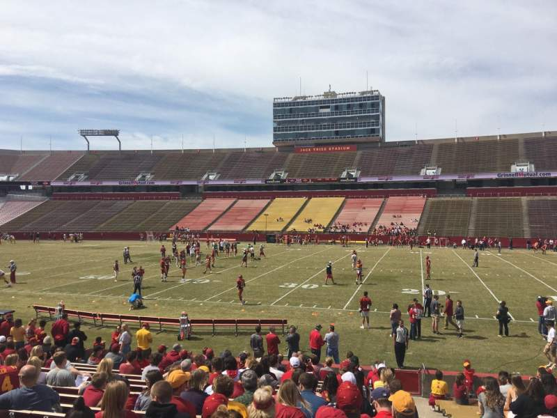 Seating view for Jack Trice Stadium Section 36 Row 19 Seat 19