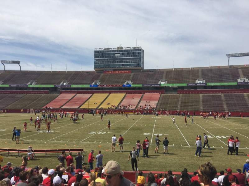 Seating view for Jack Trice Stadium Section 37 Row 17 Seat 1