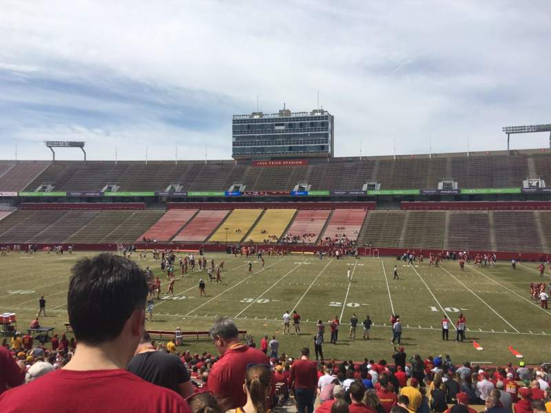Seating view for Jack Trice Stadium Section 37 Row 34 Seat 1
