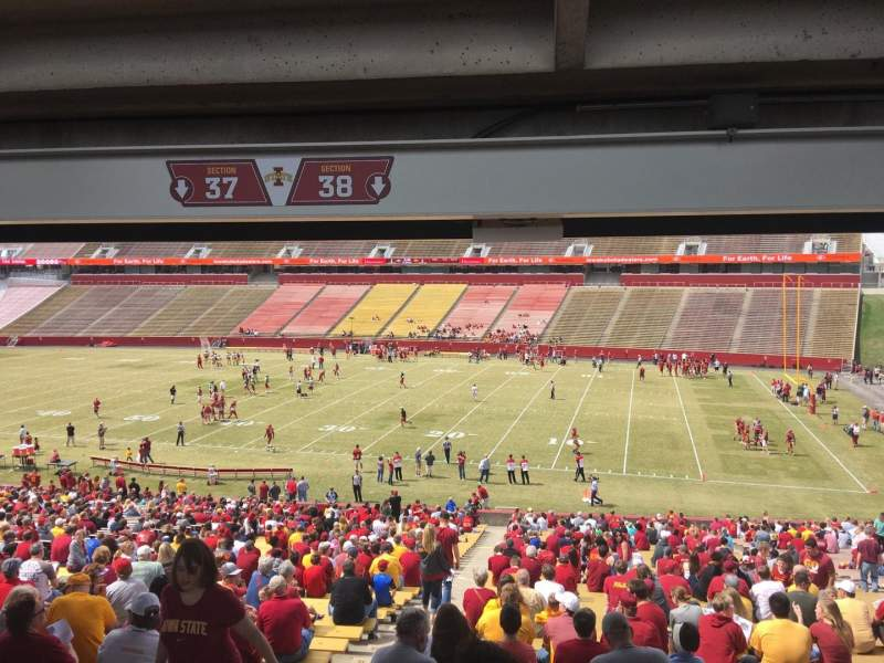 Seating view for Jack Trice Stadium Section 38 Row 47 Seat 3