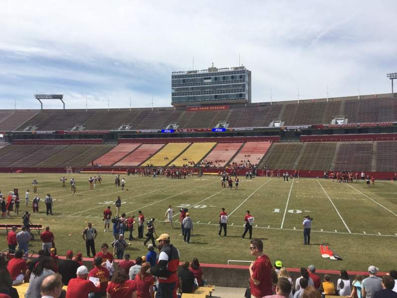 Seating view for Jack Trice Stadium Section 38 Row 17 Seat 1