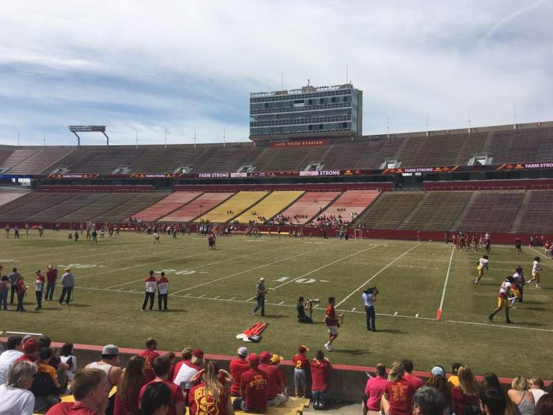 Seating view for Jack Trice Stadium Section 39 Row 14 Seat 1