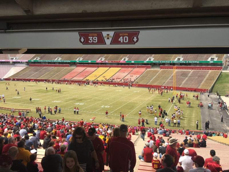 Seating view for Jack Trice Stadium Section 40 Row 47 Seat 1