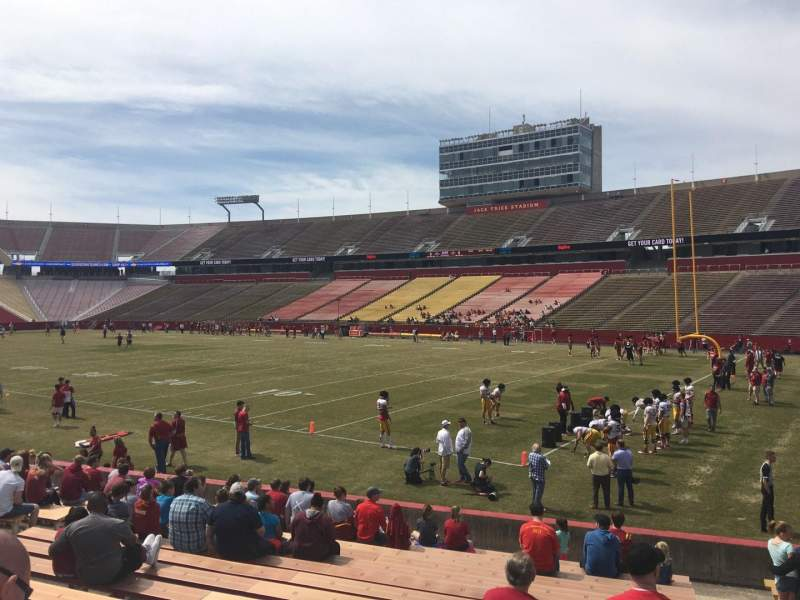 Seating view for Jack Trice Stadium Section 40 Row 17 Seat 19