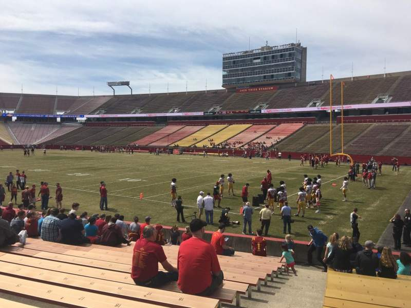 Seating view for Jack Trice Stadium Section 41 Row 17 Seat 1