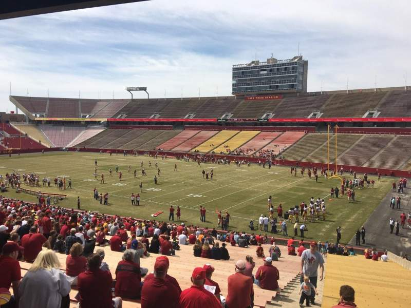 Seating view for Jack Trice Stadium Section 41 Row 44 Seat 1