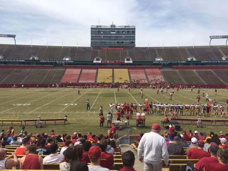Seating view for Jack Trice Stadium Section 33 Row 20 Seat 19