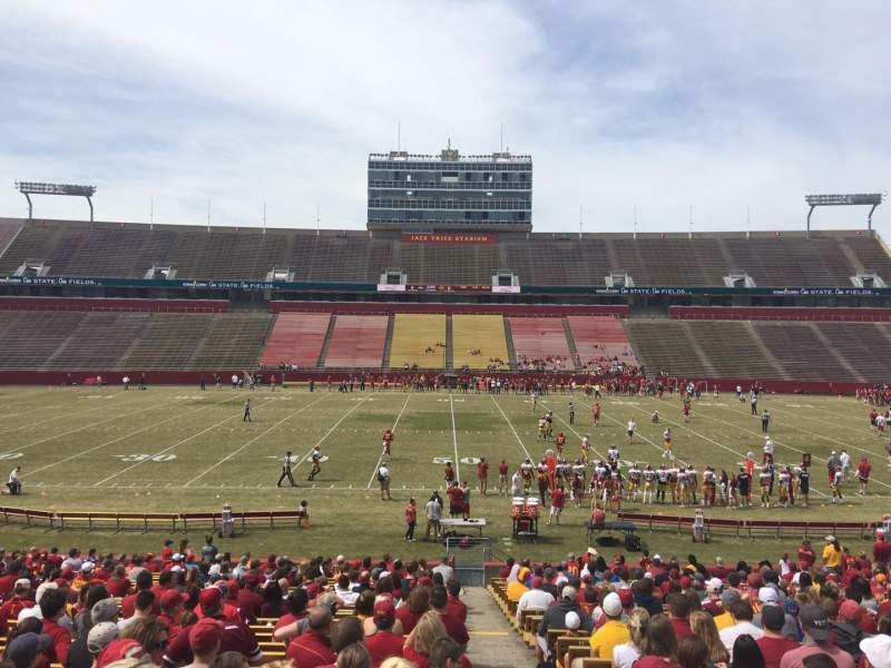 Seating view for Jack Trice Stadium Section 33 Row 30 Seat 19
