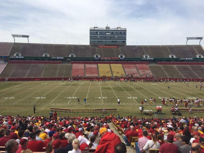 Seating view for Jack Trice Stadium Section 32 Row 37 Seat 19