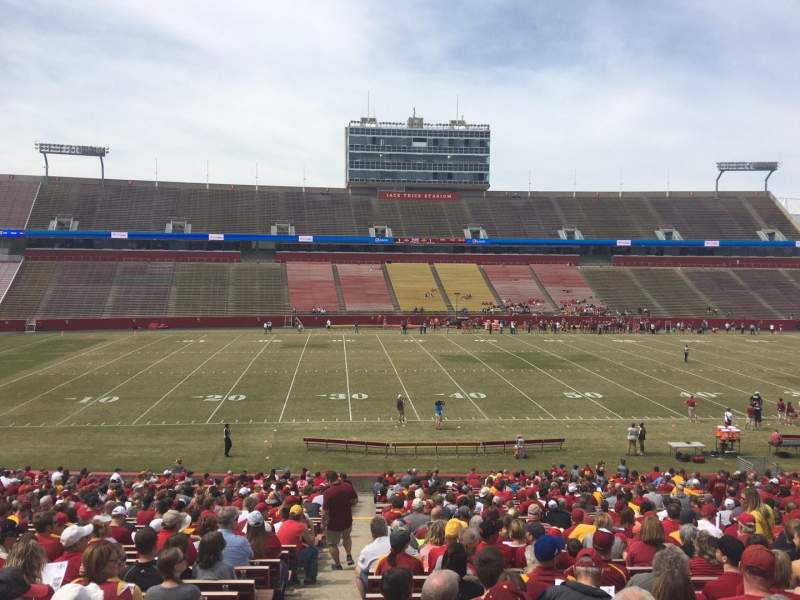 Seating view for Jack Trice Stadium Section 32 Row 37 Seat 1