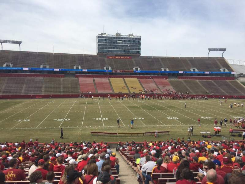 Seating view for Jack Trice Stadium Section 31 Row 37 Seat 19
