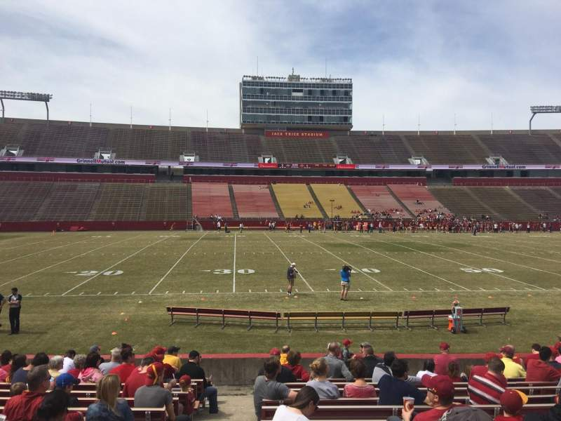 Seating view for Jack Trice Stadium Section 32 Row 16 Seat 1