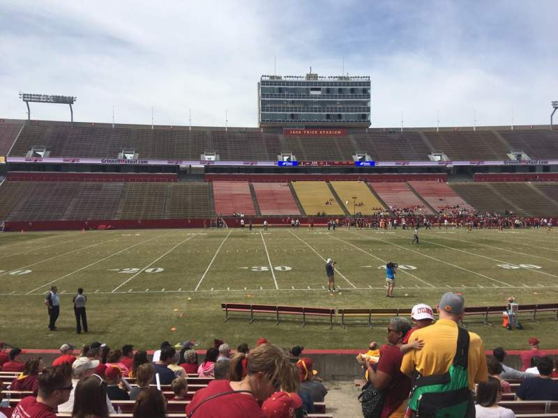 Seating view for Jack Trice Stadium Section 31 Row 16 Seat 19