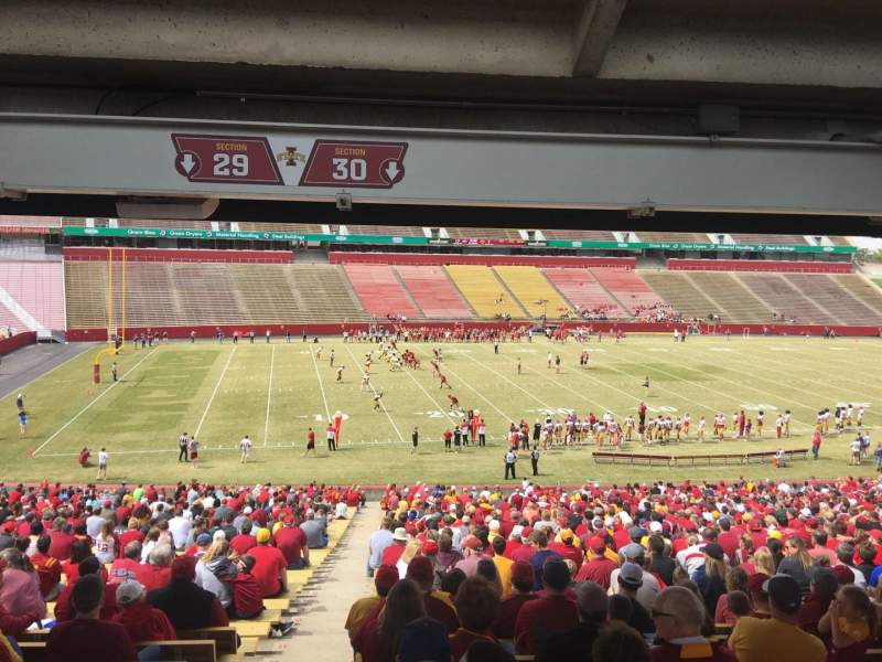 Seating view for Jack Trice Stadium Section 30 Row 47 Seat 1