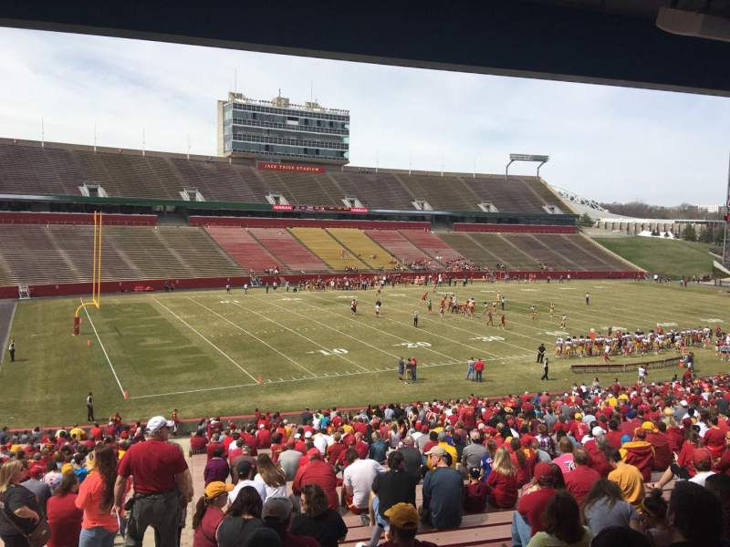 Seating view for Jack Trice Stadium Section 28 Row 44 Seat 1