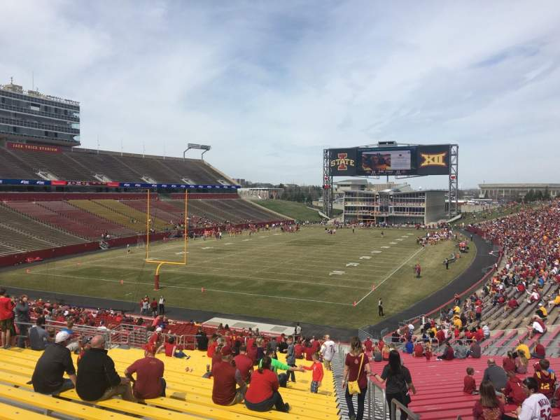 Seating view for Jack Trice Stadium Section 23 Row 39 Seat 27