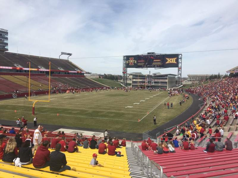 Seating view for Jack Trice Stadium Section 23 Row 27 Seat 20