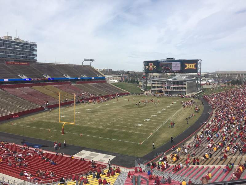 Seating view for Jack Trice Stadium Section O Row 8 Seat 16