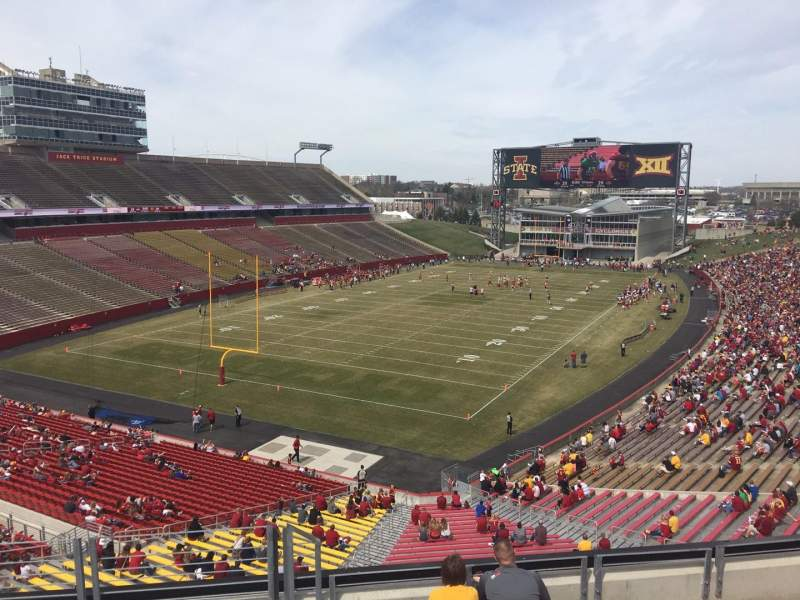 Seating view for Jack Trice Stadium Section P Row 8 Seat 1