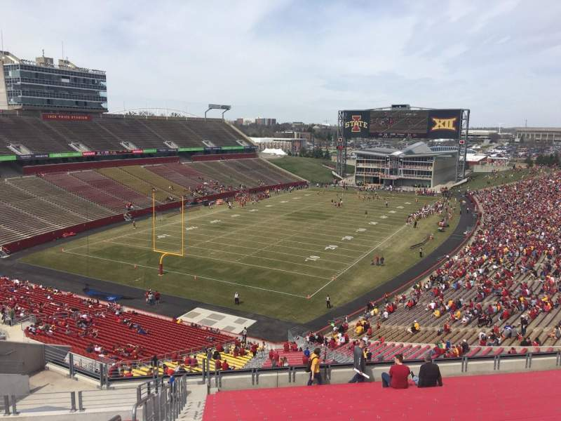 Seating view for Jack Trice Stadium Section P Row 20 Seat 1