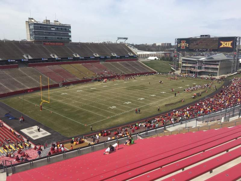 Seating view for Jack Trice Stadium Section R Row 20 Seat 1